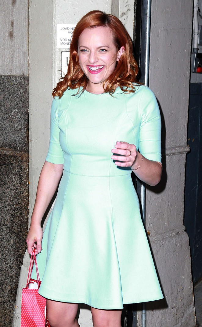 Elisabeth Moss in Mini Dress out in NYC