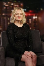 Elisabeth Moss - On Jimmy Kimmel Live! in LA