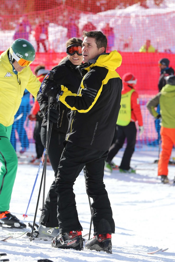 Elisabetta Canalis and Brian Perri Skiing in Cortina DAmpezzo -27