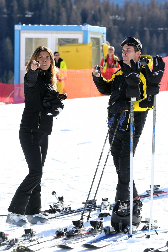 Elisabetta Canalis and Brian Perri Skiing in Cortina DAmpezzo -39