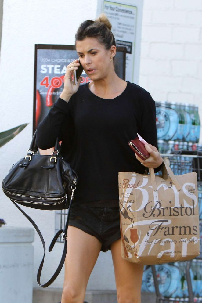 Elisabetta Canalis at Bristol Farms in West Hollywood