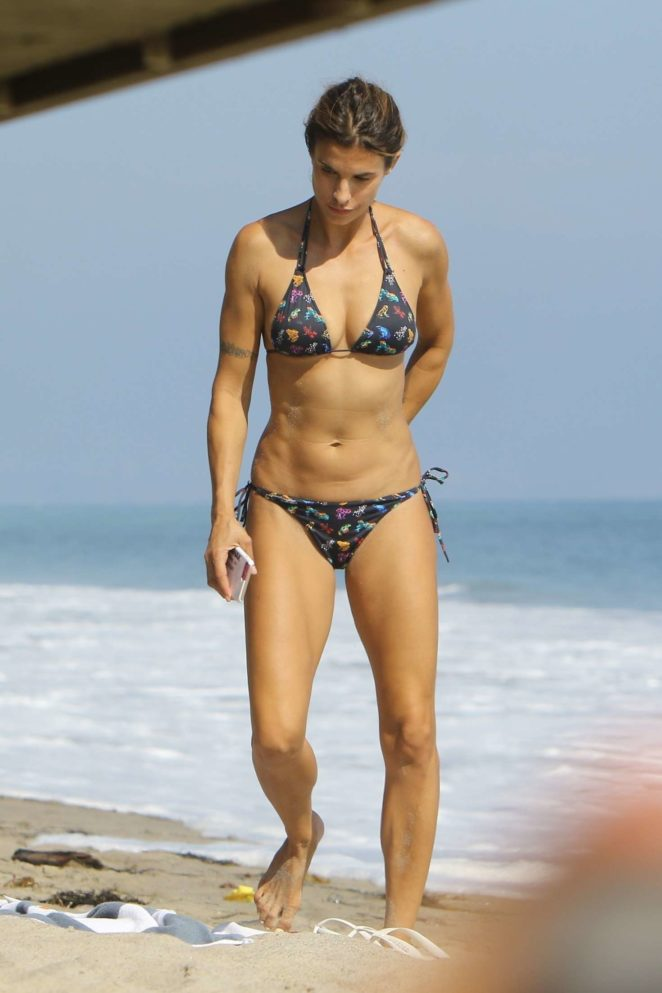 Elisabetta Canalis - Bikini candids at the beach in Malibu
