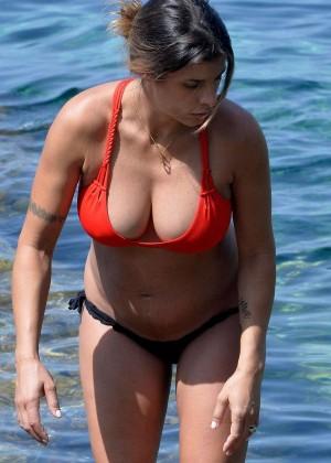 Elisabetta Canalis in Bikini in Sardinia