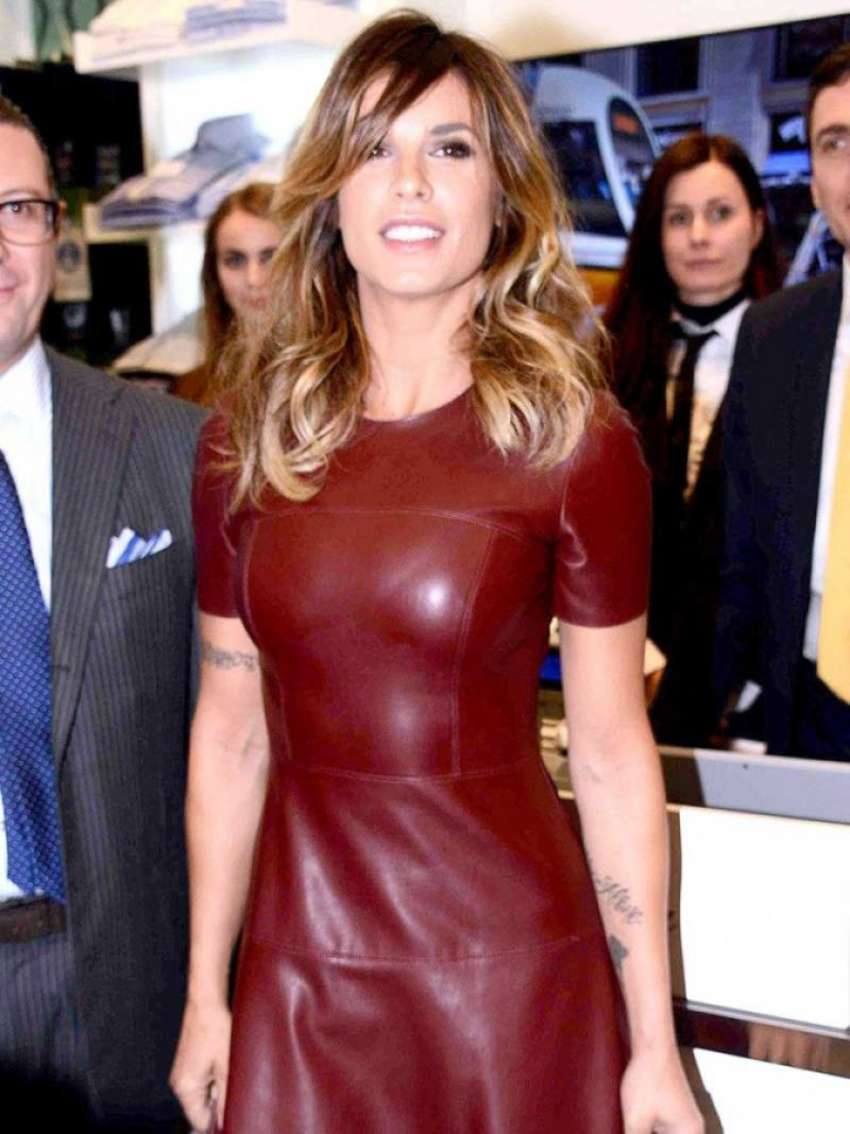 Elisabetta Canalis 2015 : Elisabetta Canalis in Leather Dress -01