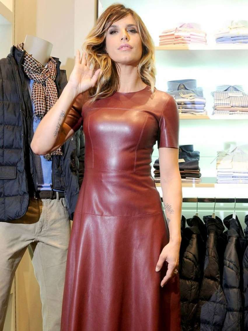 Elisabetta Canalis 2015 : Elisabetta Canalis in Leather Dress -05
