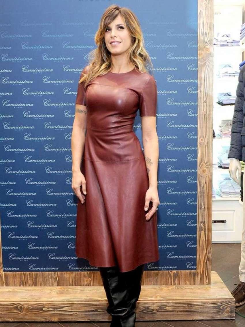 Elisabetta Canalis 2015 : Elisabetta Canalis in Leather Dress -06