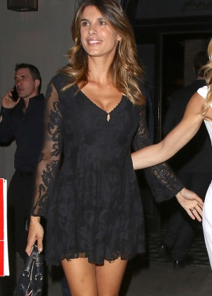 Elisabetta Canalis in Black Mini Dress at Craig's in West Hollywood