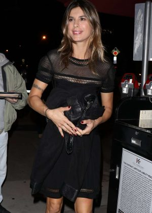 Elisabetta Canalis in little black dress in West Hollywood