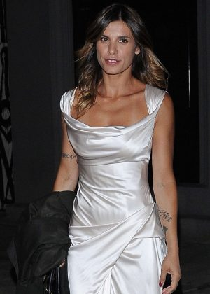 Elisabetta Canalis in Long Dress at Craig's Restaurant in Los Angeles