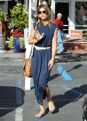 Elisabetta Canalis - Leaves Fred Segal in West Hollywood