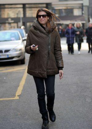 Elisabetta Canalis Out in Milan