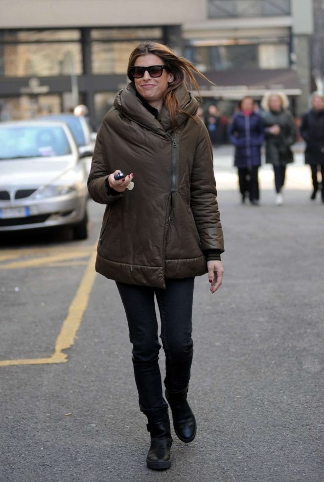 Elisabetta Canalis Out in Milan