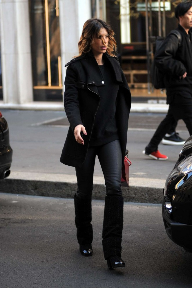Elisabetta Canalis Shopping at Cartier Jewellery shop in Milan