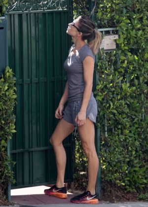 Elisabetta Canalis showing her legs in West Hollywood