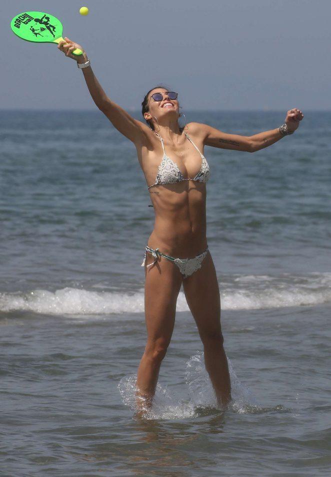 Elisabetta Gregoraci in Bikini at the Twiga Beach Club in Marina di Pietrasanta