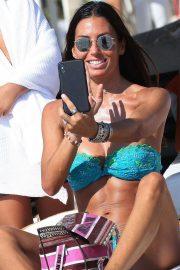 Elisabetta Gregoraci in Bikini at the Twiga Beach Club Versilia in Marina of Pietrasanta