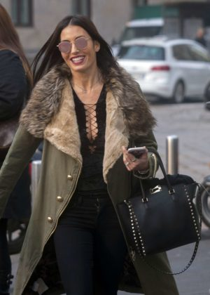 Elisabetta Gregoraci out in Milan
