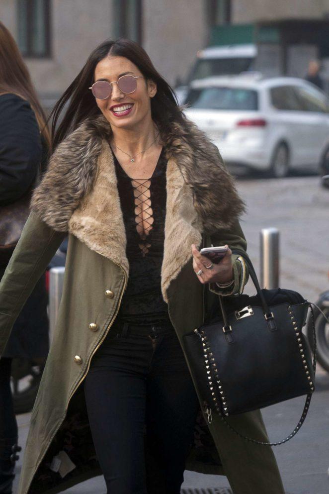 Elisabetta Gregoraci out in Milan