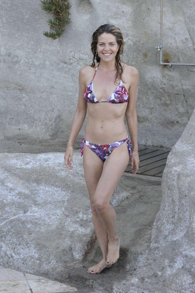 Elisabetta Pellini in Bikini on the beach in Ischia