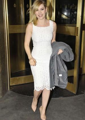 Elisha Cuthbert at NBC Studios in New York