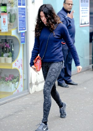 Eliza Doolittle in Tights Going to the Gym in London