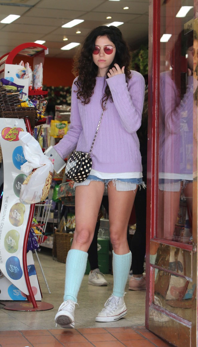 Eliza Doolittle in Short Shorts out in London