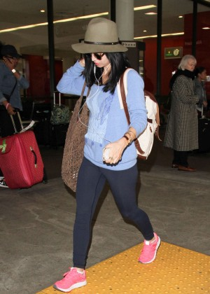 Eliza Dushku in Tights at LAX Airport in LA