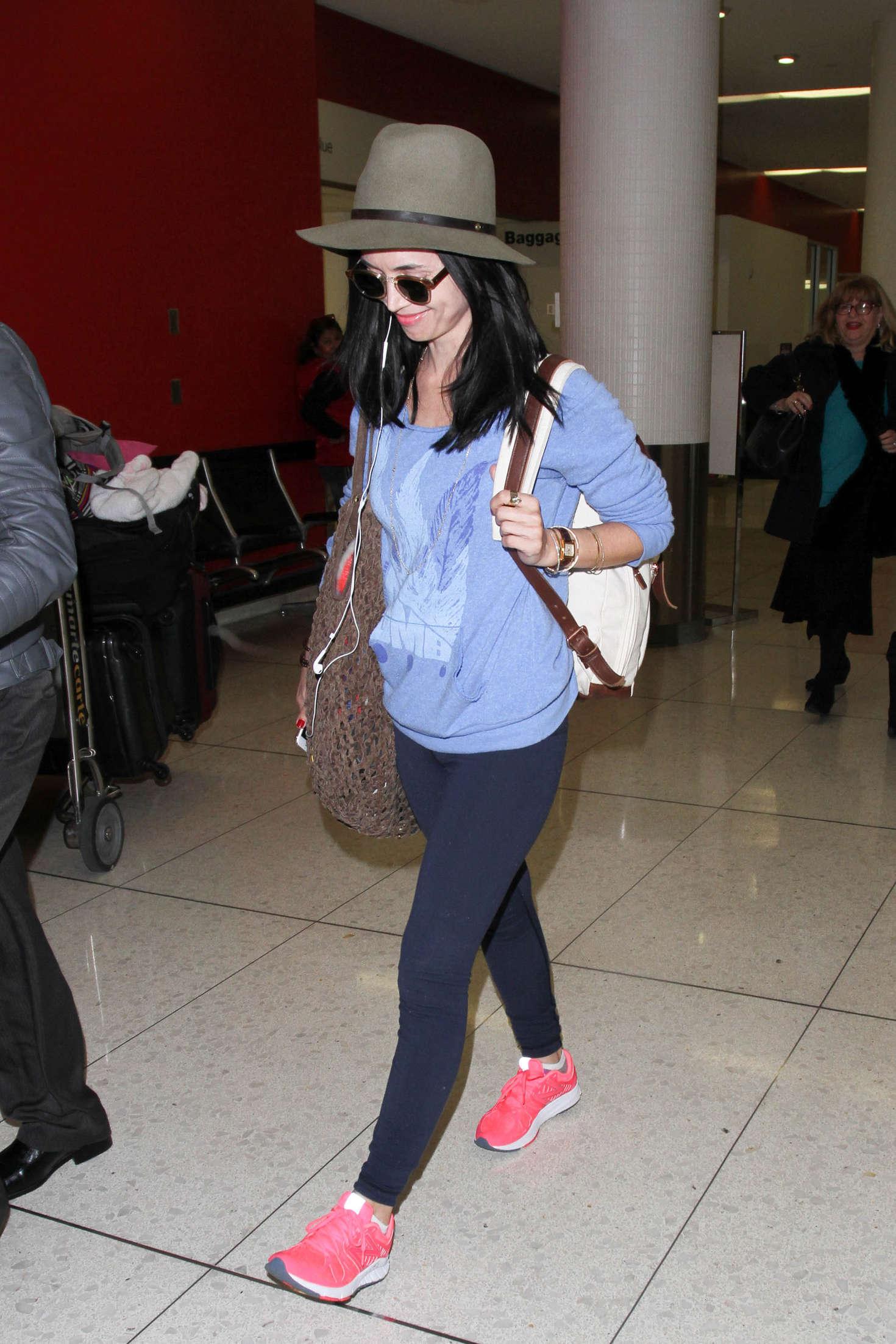 Eliza Dushku 2015 : Eliza Dushku in Tights at LAX -03