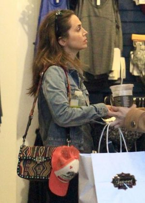 Eliza Dushku at Lululemon in Beverly Hills