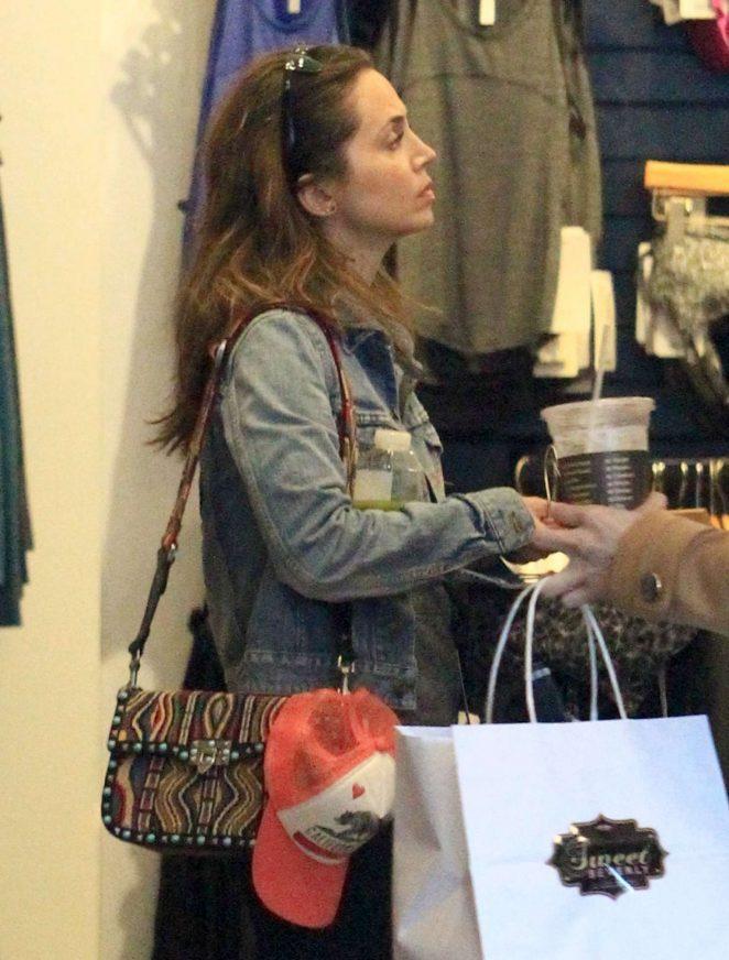 Eliza Dushku at Lululemon in Beverly Hills