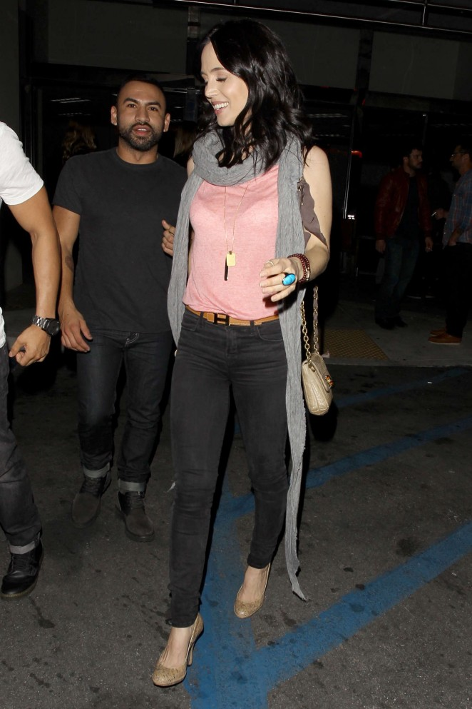 Eliza Dushku in Black Jeans out in Hollywood