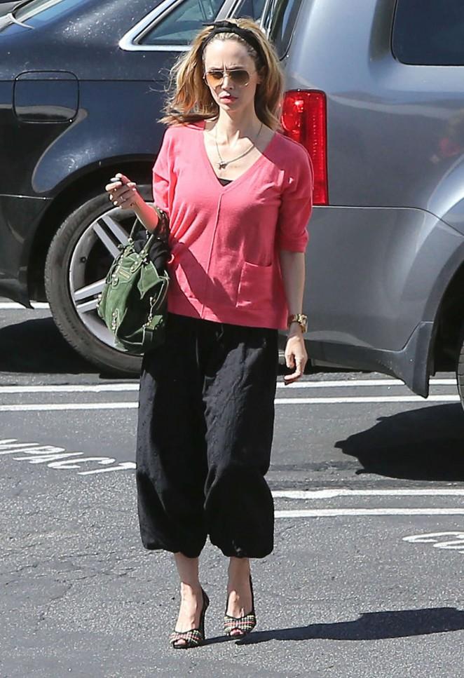 Eliza Dushku Street Style - out in LA