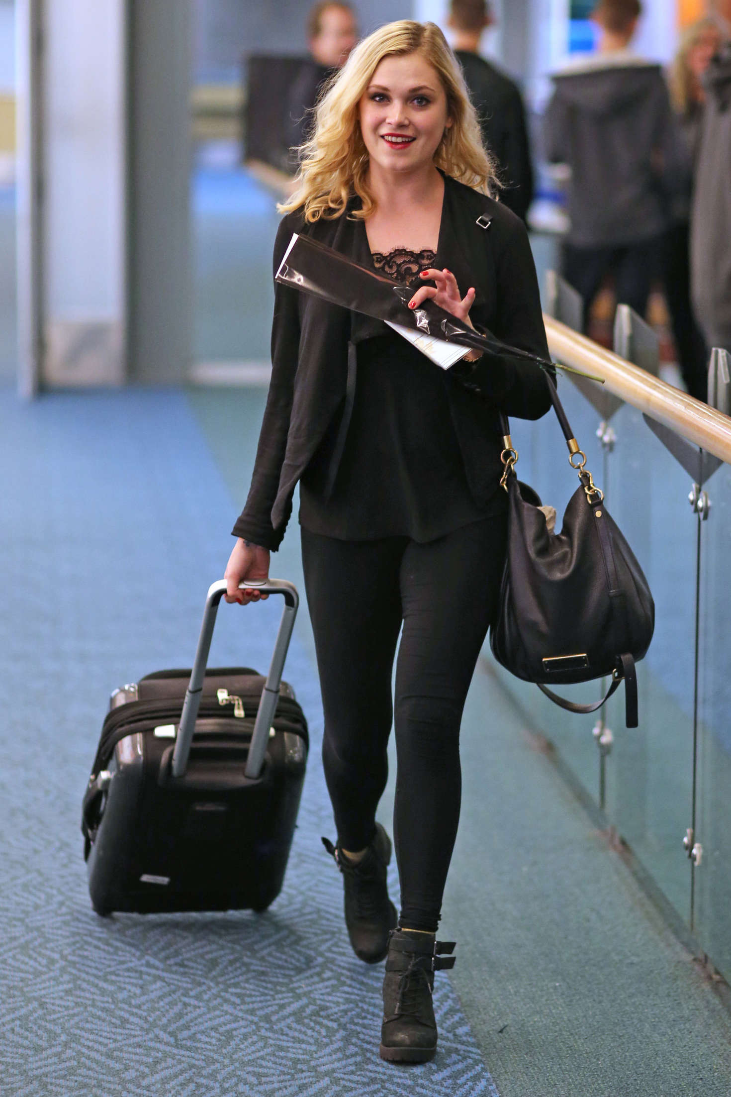 Eliza Taylor in Tights -03 - GotCeleb Vanessa Hudgens Boyfriend