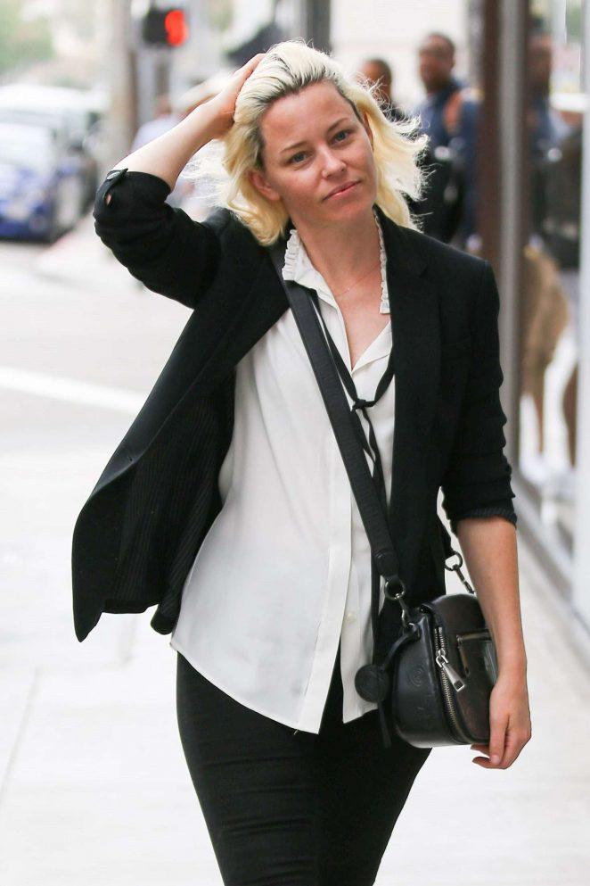 Elizabeth Banks out in Beverly Hills