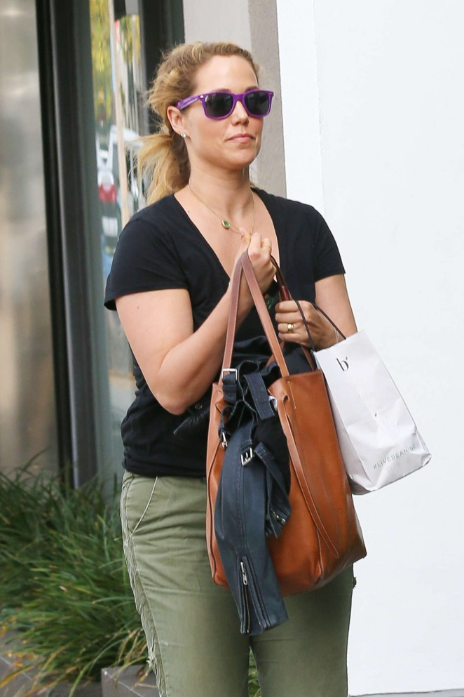 Elizabeth Berkley at Negin Zand Salon in West Hollywood