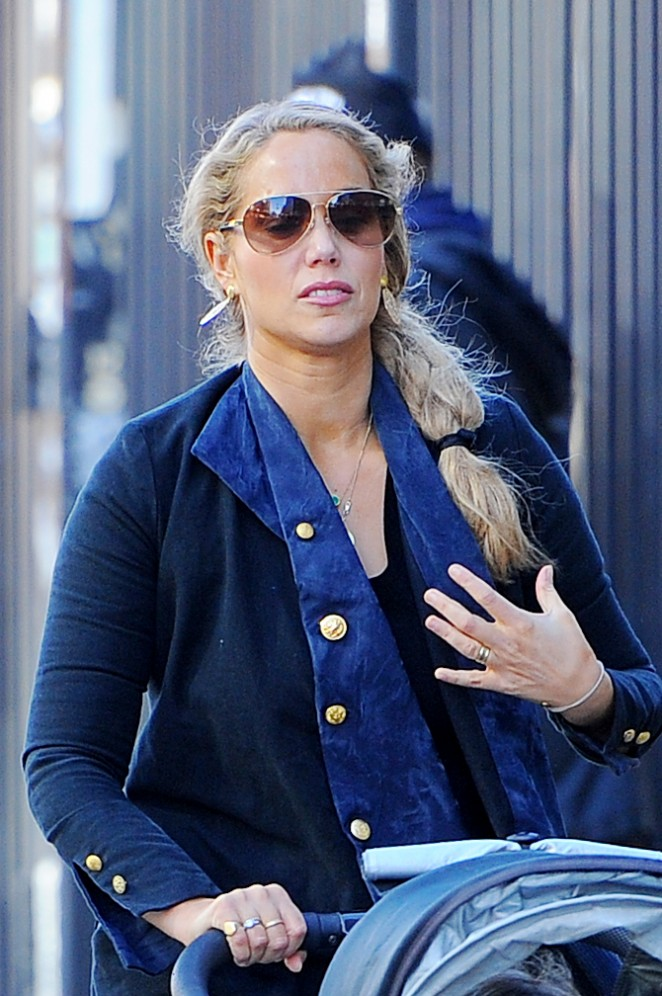 Elizabeth Berkley out and about in Soho