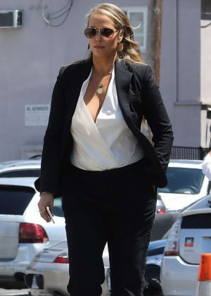 Elizabeth Berkley out for a meeting in Brentwood