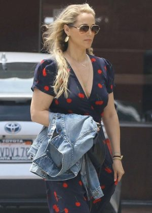 Elizabeth Berkley out for lunch in Brentwood