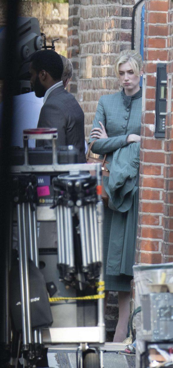 Elizabeth Debicki - Filming of Tenet in North London