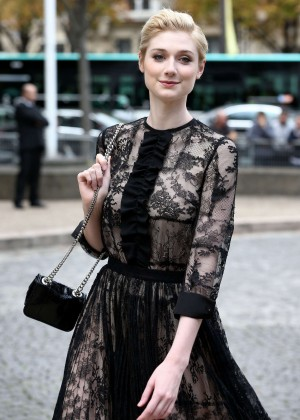 Elizabeth Debicki - Miu Miu Fashion Show in Paris
