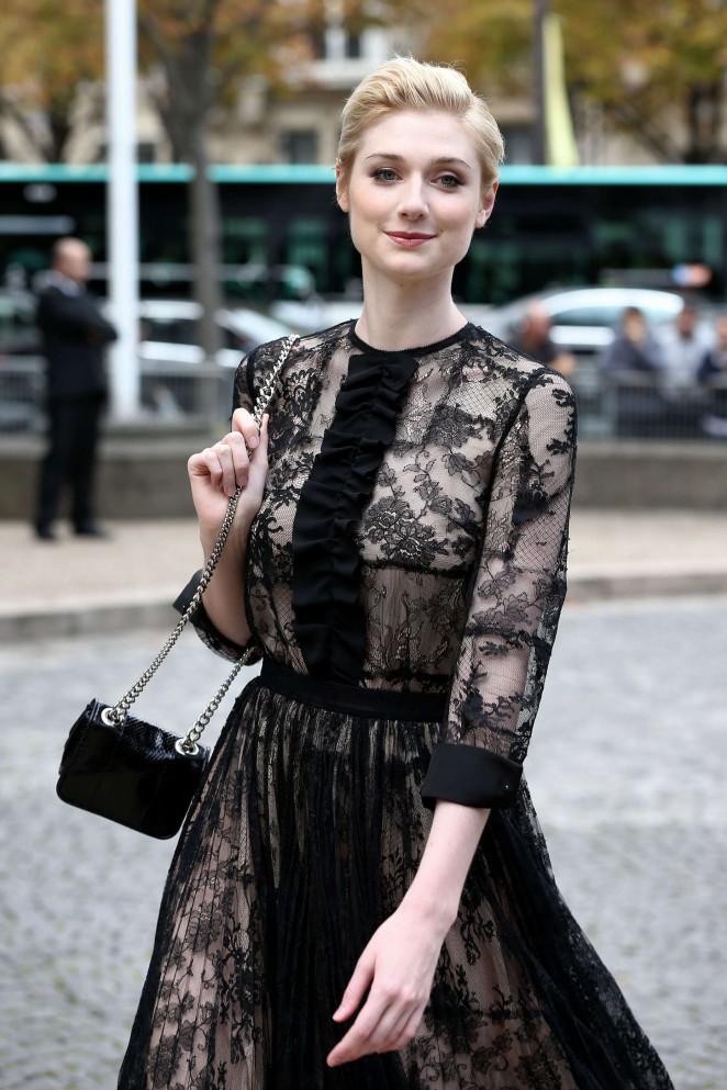 Elizabeth Debicki - Miu Miu Fashion Show in Paris