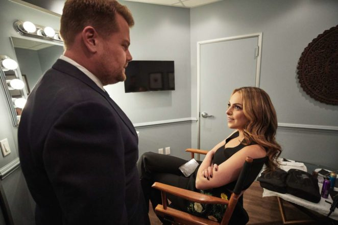 Elizabeth Gillies: The Late Late Show with James Corden -01