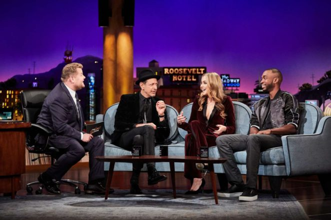 Elizabeth Gillies: The Late Late Show with James Corden -05