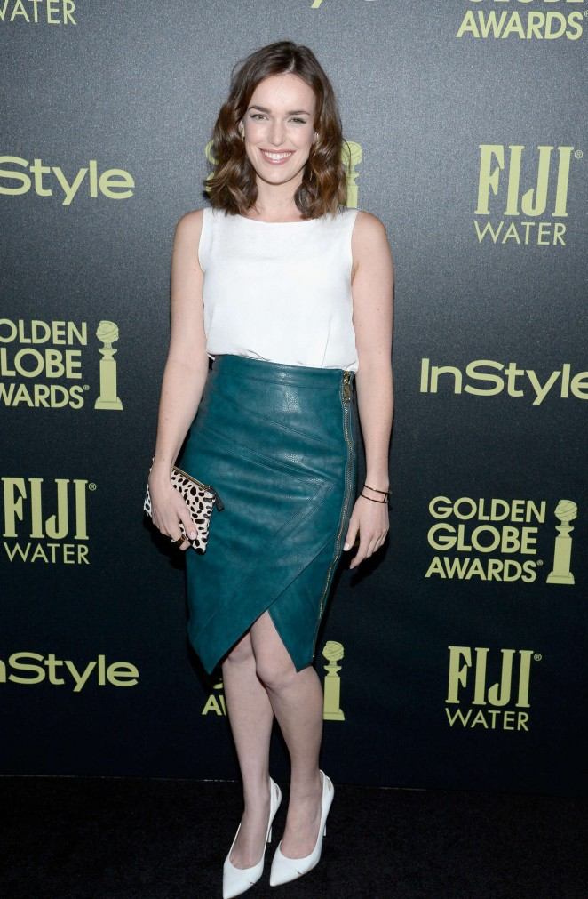 Elizabeth Henstridge - HFPA And InStyle Celebrate The 2016 Golden Globe Award Season in West Hollywood