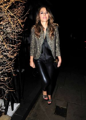 Elizabeth Hurley - Arrives at Annabel's in Mayfair