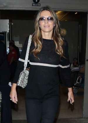 Elizabeth Hurley - Arrives at JFK Airport in New York City
