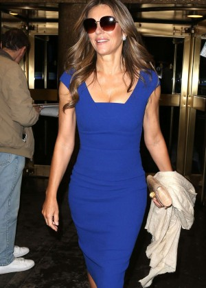 Elizabeth Hurley - Arrives at Today Show in New York