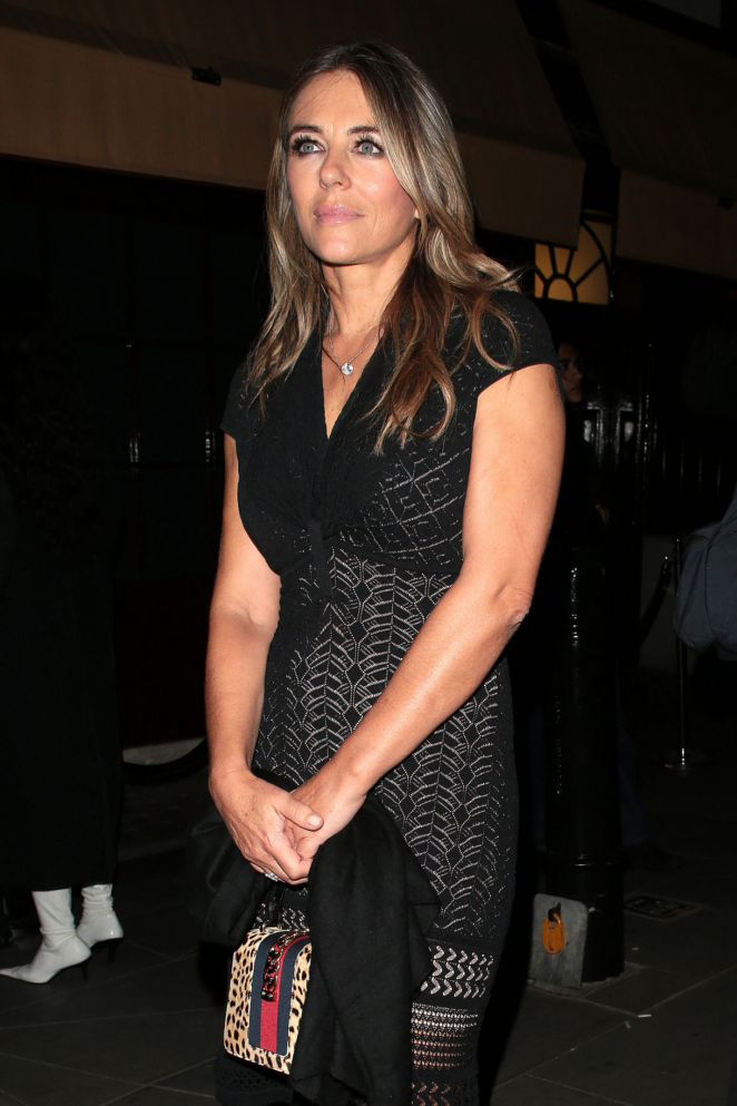Elizabeth Hurley - Arriving at LOVE Magazine Party in London