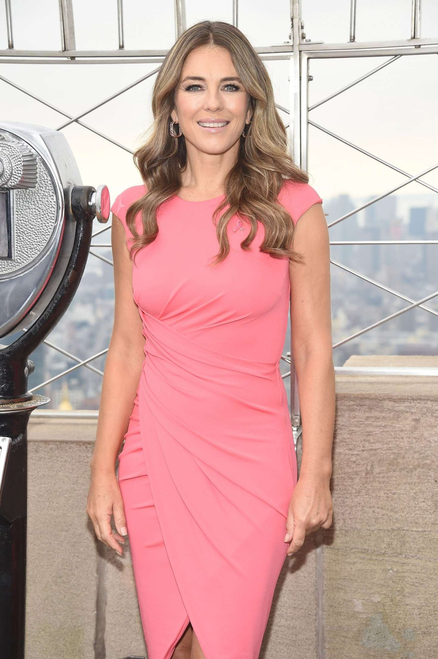 Elizabeth Hurley at Empire State Building in New York