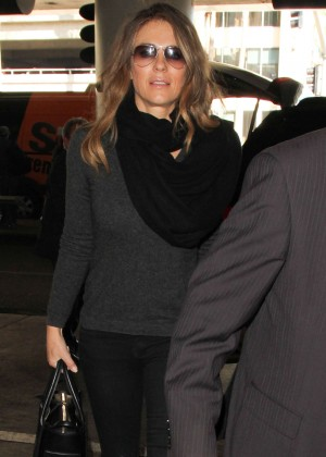 Elizabeth Hurley at LAX Airport in Los Angeles